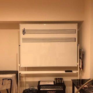 オリジナル五線譜ホワイトボード